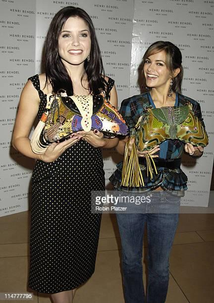 "Sophia Bush and Rebecca Budig during Henri Bendel Launches ""It-Bags Against Breast Cancer"" - October 18, 2005 at Henri Bendel in New York City, New..."