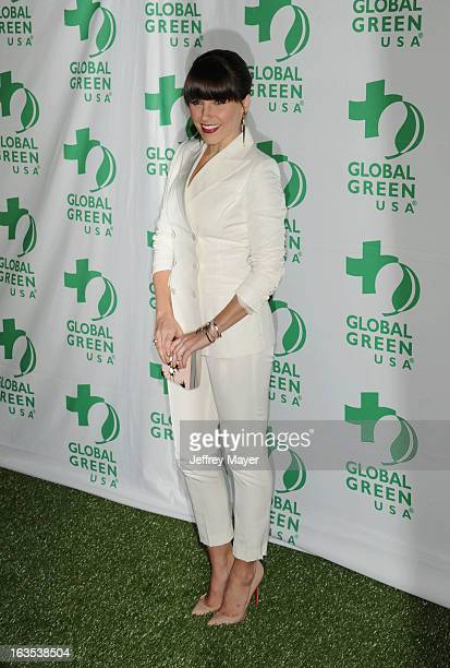 Sophia Bush arrives at Global Green USA's 10th Annual PreOscar party at Avalon on February 20 2013 in Hollywood California
