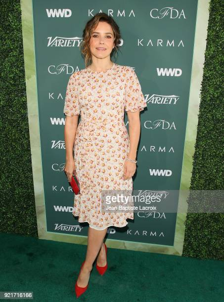 Sophia Bush arrives to the Council of Fashion Designers of America luncheon held at Chateau Marmont on February 20 2018 in Los Angeles California