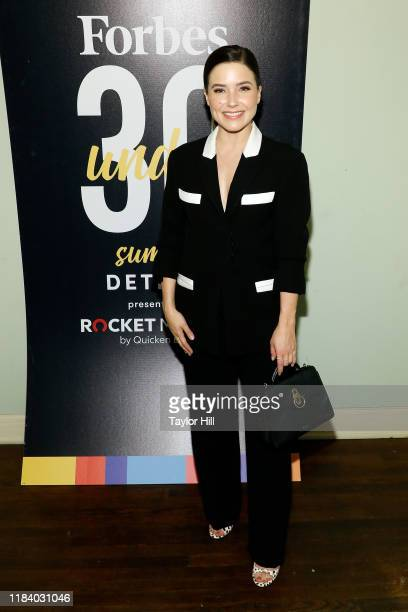 Sophia Bush attends the 2019 Forbes 30 Under 30 Summit on October 28, 2019 at Detroit Masonic Temple in Detroit, Michigan.