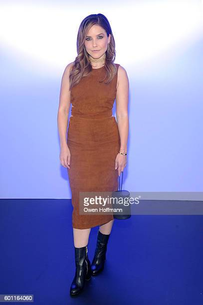 Sophia Bush attends the Cushnie et Ochs front row during New York Fashion Week: The Shows at The Dock, Skylight at Moynihan Station on September 9,...