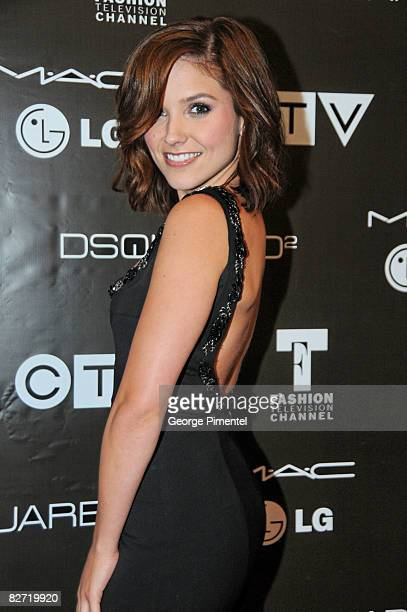 Sophia Bush attends the MAC GOLD FEVER AFTER PARTY at the Chum/City Building on September 7 2008 in Toronto Canada