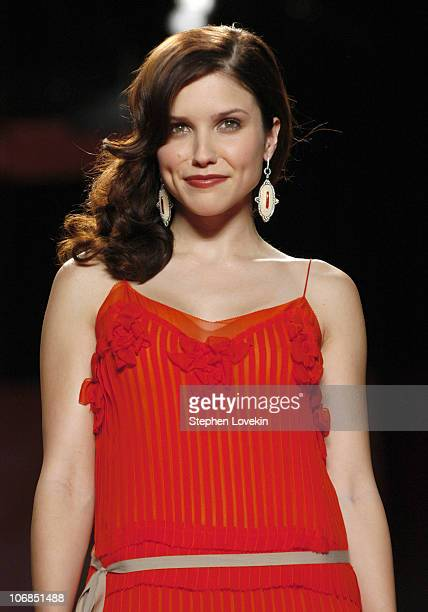 Sophia Bush during Olympus Fashion Week Fall 2005 Heart Truth Red Dress Collection Backstage and Runway at The Tent Bryant Park in New York City New...
