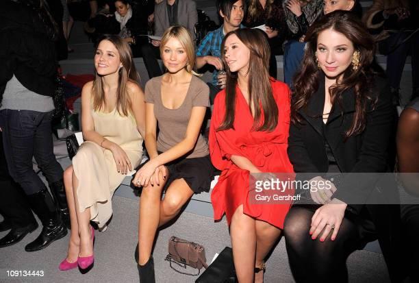 Sophia Bush Katrina Bowden Jennifer Love Hewitt and Lynn Collins attends the Max Azria Fall 2011 fashion show during MercedesBenz Fashion Week at The...