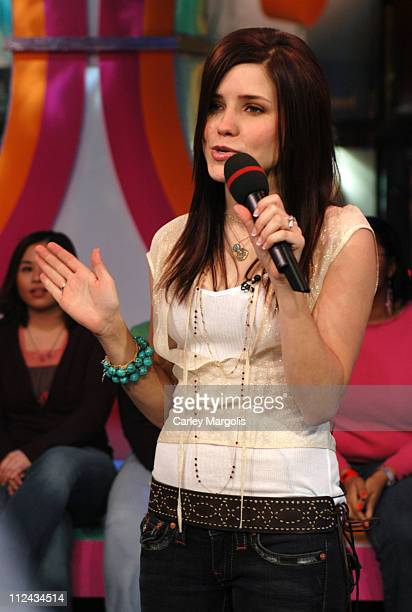 Sophia Bush of 'One Tree Hill' during The Cast of 'One Tree Hill' Takes Over MTV's 'TRL' January 25 2005 at MTV Studios in New York City New York...