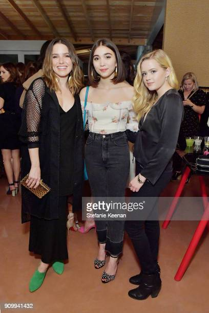 Sophia Bush Rowan Blanchard and Ava Phillippe attend Conde Nast The Women March's Cocktail Party to Celebrate the One Year Anniversary of the March...