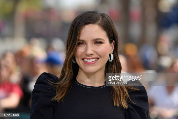 Sophia Bush visits Extra at Universal Studios Hollywood on June 4 2018 in Universal City California