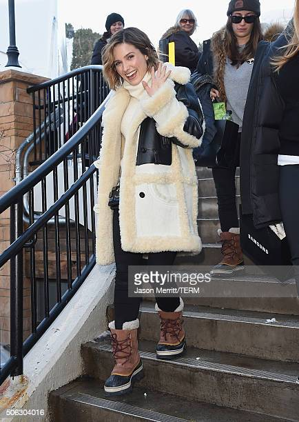 Sophia Bush wears Sorel Around Park City Day 1 2016 Park City on January 22 2016 in Park City Utah