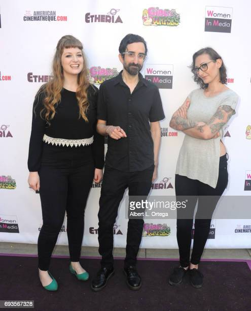 Sophia Cacciola Michael J Epstein and Heidi Moore arrive for Etheria Film Night held at The Egyptian Theatre on June 3 2017 in Los Angeles California