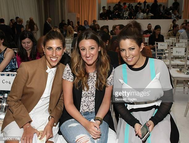 Sophia Chabbott, Ashley DeNote, and Bobbie Thomas attend The Intimate Britney Spears during Mercedes-Benz Fashion Week Spring 2015 at New York Public...
