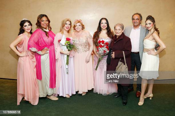 Sophia Dama Faith Hope Consolo Angelika Sandora and cast attend FauxBia The Musical World Premiere at Zankel Hall Carnegie Hall on December 2 2018 in...