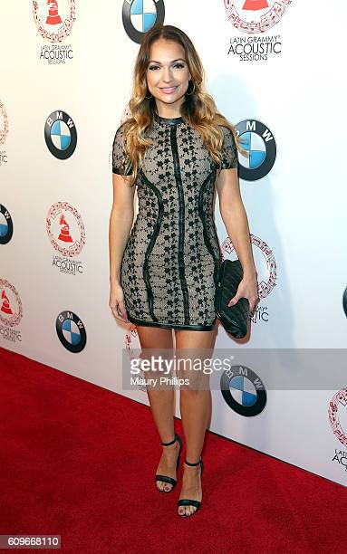 Sophia Del Carmen attends the Latin GRAMMY Acoustic Sessions Los Angeles on September 21 2016 in Los Angeles California