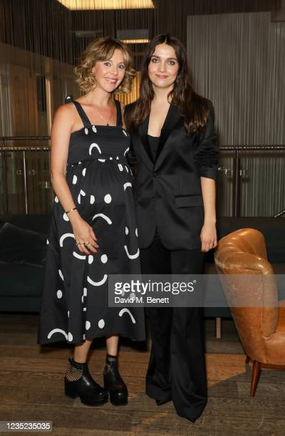 """Sophia Di Martino and Nell Barlow attend a preview screening of """"Sweetheart"""" at the BFI Southbank on September 13, 2021 in London, England."""