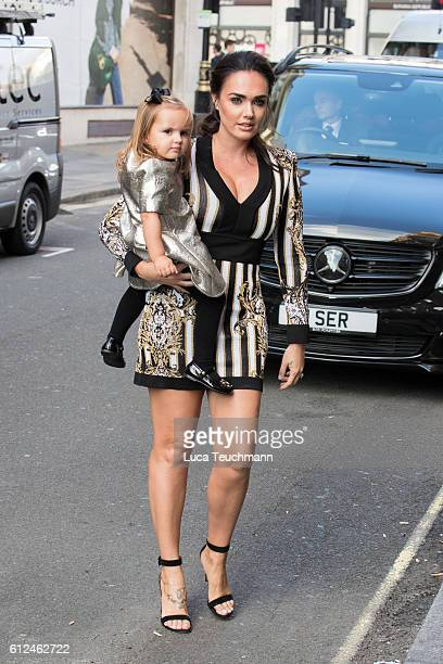 Sophia Ecclestone and Tamara Ecclestone attends the private view for Dan Baldwin's 'Under The Influence' exhibition at Maddox Gallery on October 4...
