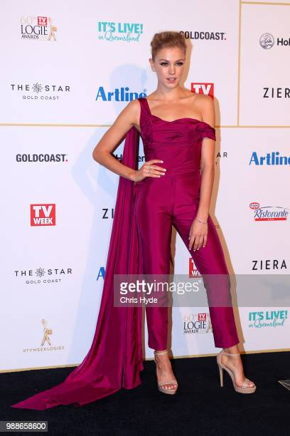 Sophia Forest arrives at the 60th Annual Logie Awards at The Star Gold Coast on July 1 2018 in Gold Coast Australia