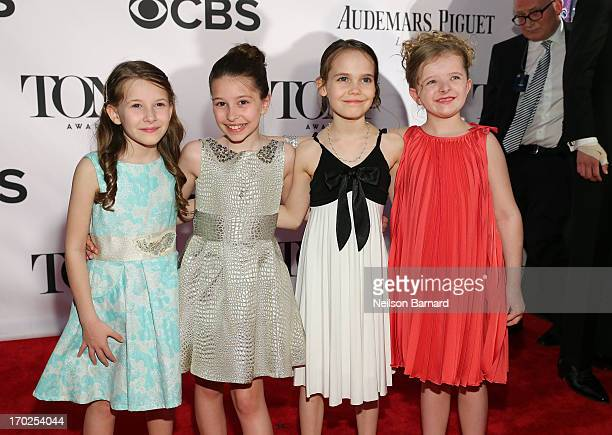 Sophia Gennusa Bailey Ryon Oona Laurence And Milly Shapiro Of Matilda The Musical Attend