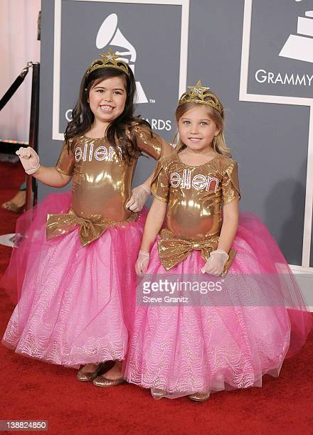 Sophia Grace and Rosie arrive at The 54th Annual GRAMMY Awards at Staples Center on February 12 2012 in Los Angeles California