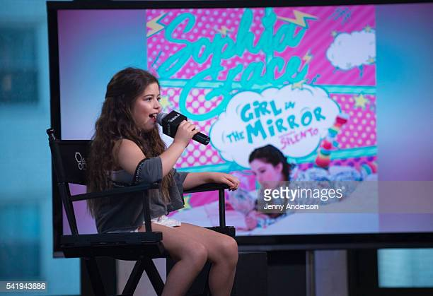 Sophia Grace attends AOL Build Speaker Series to discuss her new single 'A Girl in the Mirror' at AOL Studios in New York on June 21 2016 in New York...