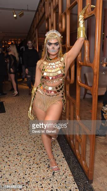 Sophia Hadjipanteli attends Ella Canta's Day of the Dead celebration on October 30 2019 in London England
