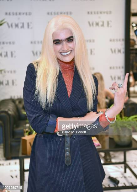 Sophia Hadjipanteli attends the British Vogue Reserved Oxford Street instore event on August 23 2018 in London England