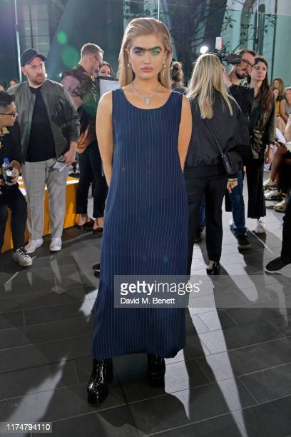 Sophia Hadjipanteli attends the David Koma front row during London Fashion Week September 2019at The Leadenhall Building on September 15 2019 in...