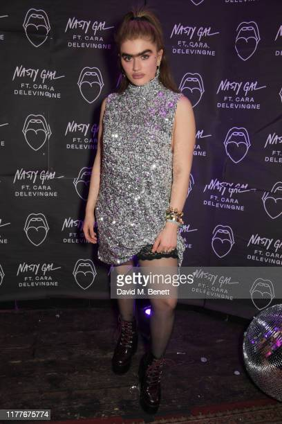 Sophia Hadjipanteli attends the launch of Nasty Gal Ft Cara Delevingne a collection of holidayready pieces inspired by female rock icons of the ages...