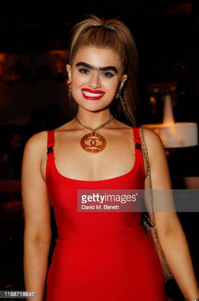 Sophia Hadjipanteli attends the LOVE YouTube LFW party supported by PerrietJouet and hosted by Katie Grand Derek Blasberg at Decimo at The Standard...