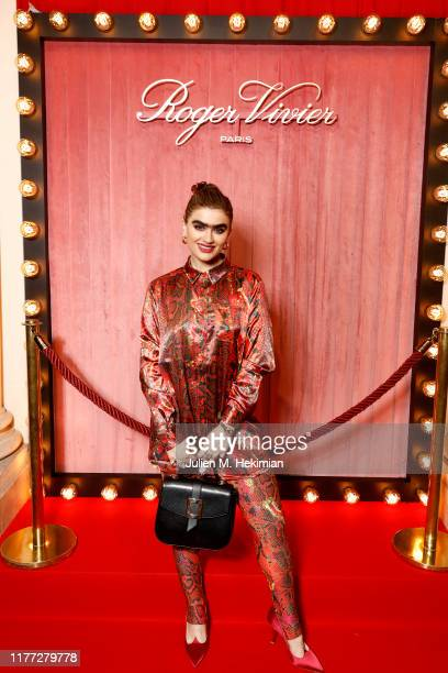 Sophia Hadjipanteli attends the Roger Vivier Press day at Hotel Vivier during Paris Fashion Week Womenswear Spring Summer 2020 on September 26 2019...