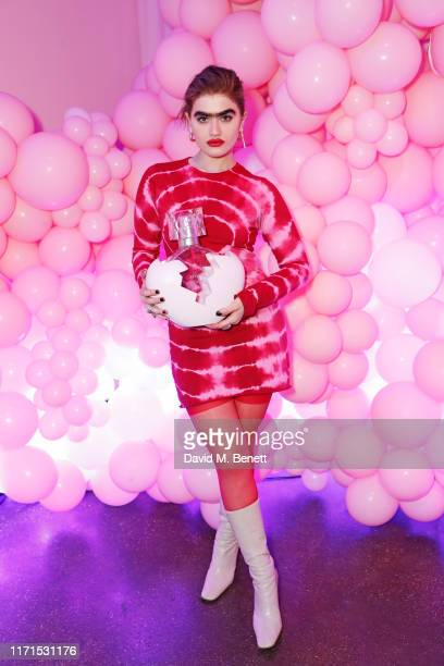 Sophia Hadjipanteli attends the VIP launch of Ariana Grande's 'Thank U Next' fragrance in Shoreditch on September 27 2019 in London England
