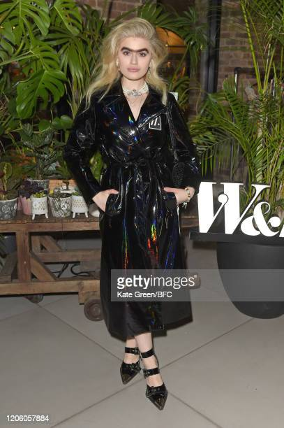 Sophia Hadjipanteli attends the Wolf Badger 10th Year Anniversary party during London Fashion Week February 2020 at Coal Drops Yard on February 13...