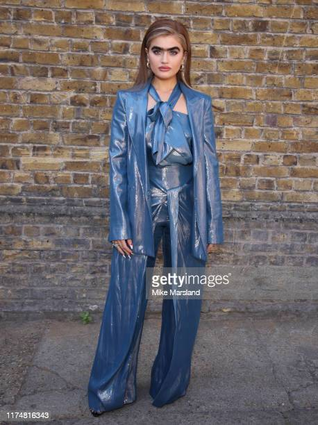 Sophia Hadjipanteli during at the Roland Mouret show at London Fashion Week September 2019 on September 15 2019 in London England