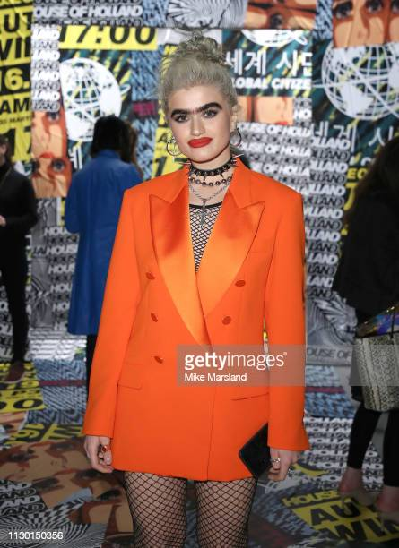 Sophia Hadjipanteli during London Fashion Week February 2019 on February 16 2019 in London England