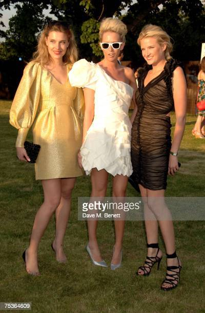 Sophia Hesketh and Olympia Scarry with guest attend the Serpentine Summer Party at The Serpentine Gallery on July 11 2007 in London England