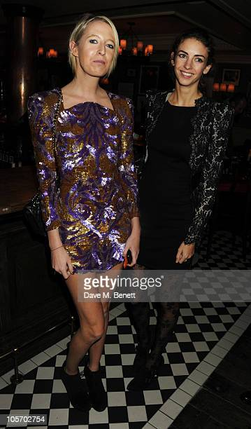 Sophia Hesketh and Rose Hanbury attend Bryan Ferry's album launch for 'Olympia' at the Dean Street Townhouse on October 19 2010 in London England