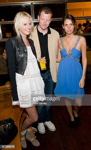 Sophia Hesketh Nat Rothschild and Marina Hanbury attend the launch of Cavalli Selection the first ever wine from Casa Cavalli May 29 2008 at 17...