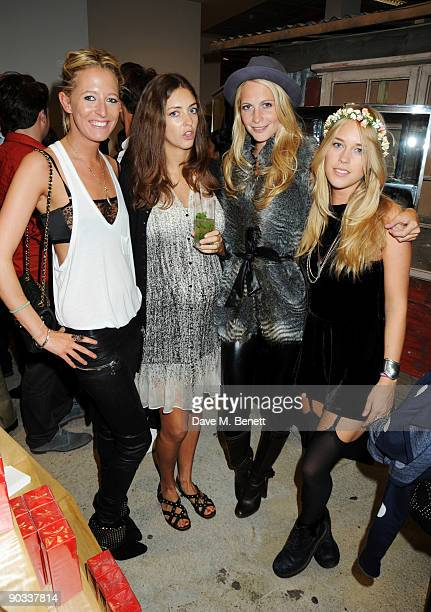 Sophia Hesketh Rose Hanbury Poppy Delevingne and Mary Charteris attend the launch of Daphne Guinness' new fragrance 'Daphne' at Dover Street Market...