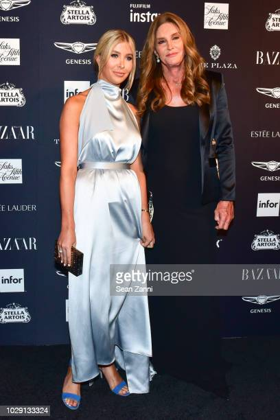 Sophia Hutchens and Caitlyn Jenner attend The Worldwide Editors Of Harper's Bazaar Celebrate ICONS by Carine Roitfeld presented by Infor Stella...