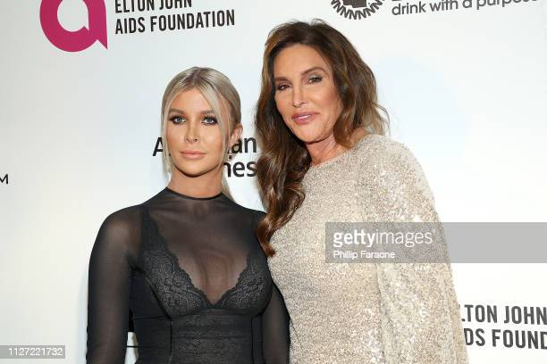 Sophia Hutchins and Caitlyn Jenner attend the 27th Annual Elton John AIDS Foundation Academy Awards Viewing Party Celebrating EJAF and The 91st...