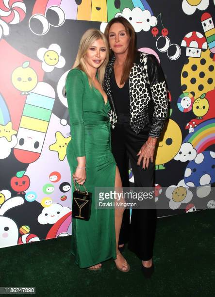 Sophia Hutchins and Caitlyn Jenner attend the alice olivia by Stacey Bendet x FriendsWithYou Collection LA launch party at the Hollywood Athletic...
