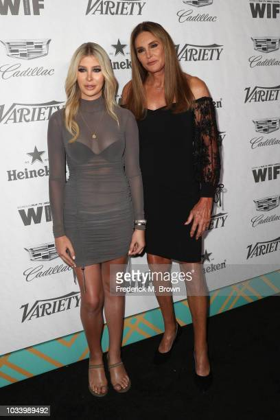 Sophia Hutchins and Caitlyn Jenner attend Variety and Women in Film's 2018 PreEmmy Celebration at Cecconi's on September 15 2018 in West Hollywood...