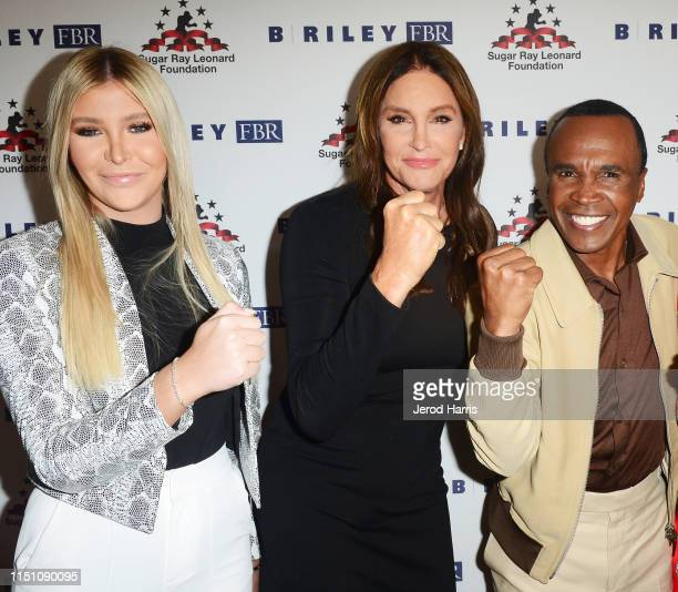 Sophia Hutchins Caitlyn Jenner Sugar Ray Leonard and Daisy Lang attends Sugar Ray Leonard Foundation's 10th Annual 'Big Fighters Big Cause' Charity...
