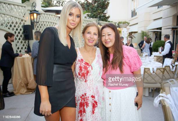 Sophia Hutchins Karine Ohana and Susie Wang attend the Ohana Co LA Summer Party at the Peninsula Hotel on August 19 2019 in Beverly Hills California