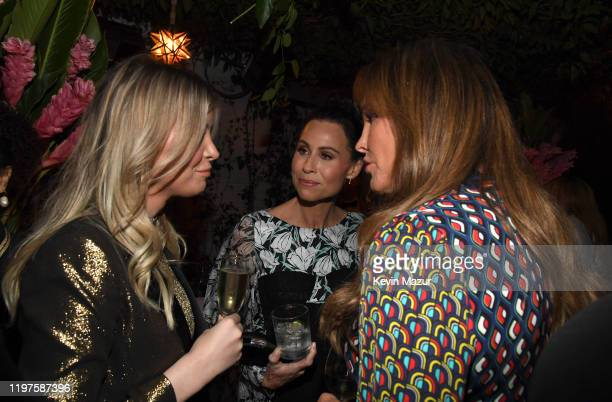 Sophia Hutchins Minnie Driver and Caitlyn Jenner attend Vanity Fair Amazon Studios and Audi Celebrate The 2020 Awards Season at San Vicente Bungalows...