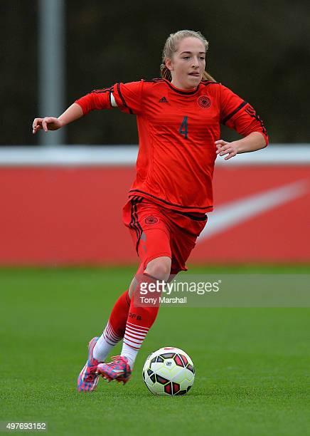 Sophia Kleinherne of Germany during Women's U16s International Friendly match between England U16s Women and Germany U16s Women at St Georges Park on...