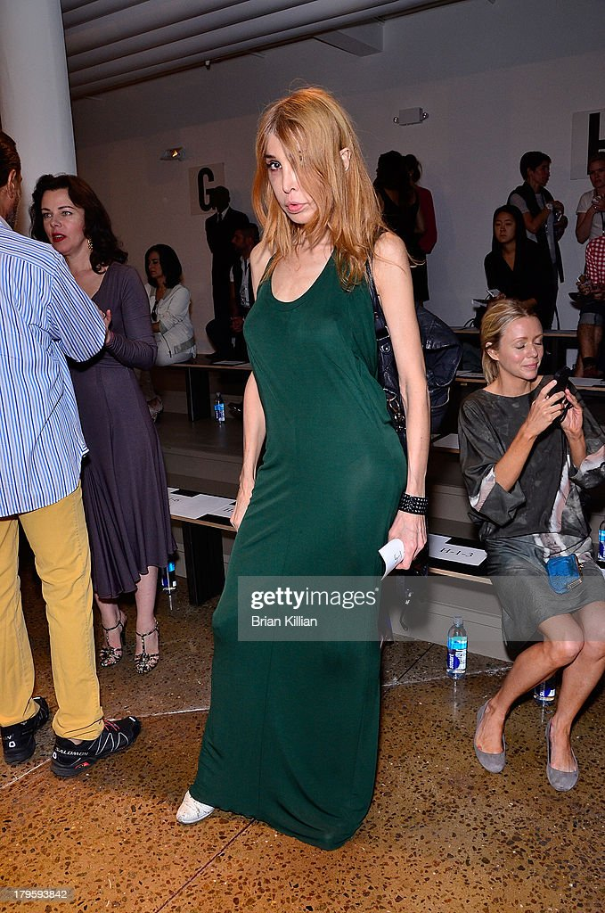 Sophia Lamar attends the Costello Tagliapietra show during Spring 2014 MADE Fashion Week at Milk Studios on September 5, 2013 in New York City.