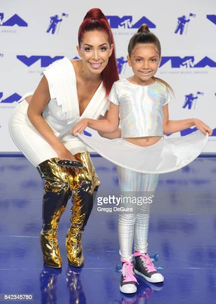 Sophia Laurent Abraham and Farrah Abraham arrive at the 2017 MTV Video Music Awards at The Forum on August 27 2017 in Inglewood California