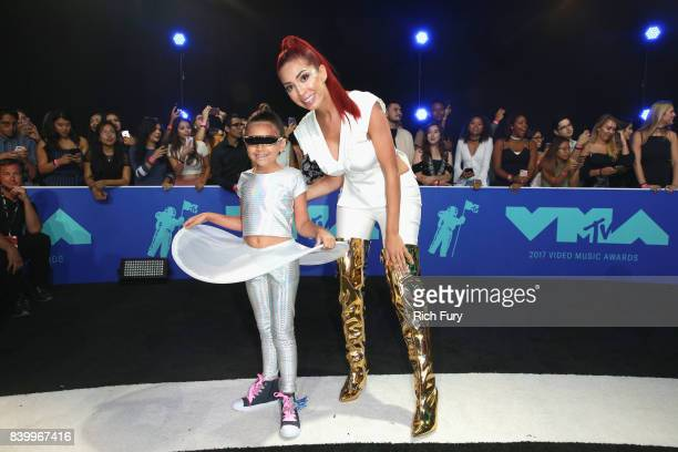 Sophia Laurent Abraham and Farrah Abraham attend the 2017 MTV Video Music Awards at The Forum on August 27 2017 in Inglewood California