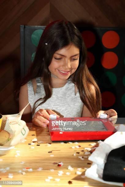 Sophia Laurent Abraham celebrates her 10th birthday on February 19 2019 in New York City