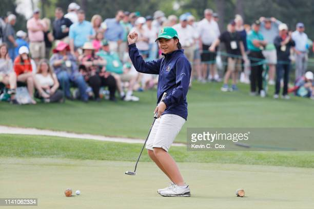 Sophia Li girls 1011 competes in the Drive Chip and Putt Championship at Augusta National Golf Club on April 07 2019 in Augusta Georgia