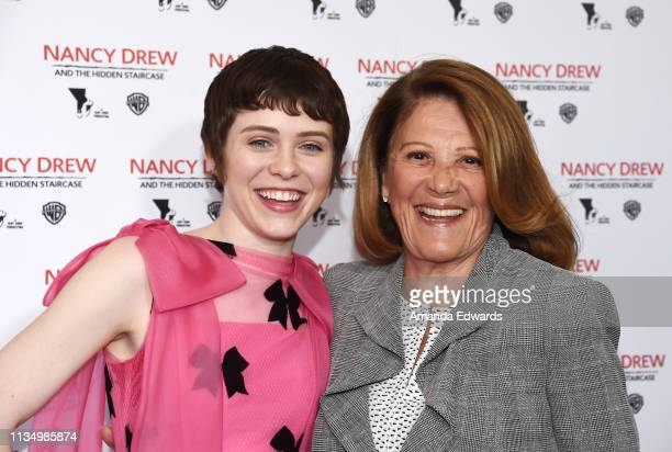 Sophia Lillis and Linda Lavin arrive at the World Premiere of Nancy Drew And The Hidden Staircase at AMC Century City 15 on March 10 2019 in Century...